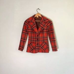 60s Mod Tartan Plaid Jacket Sportcoat Gibby Girl S